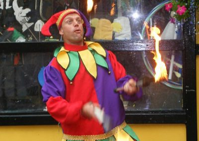 Jester Fire Juggling Jimmy Juggle